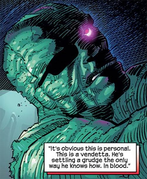Digger (Spider-Man enemy) (Marvel Comics) (Las Vegas 13) with eye glowing in the dark