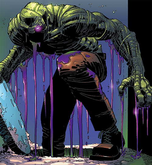 Digger (Spider-Man enemy) (Marvel Comics) (Las Vegas 13) emerging from the ground