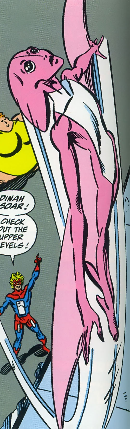 Dinah Soar of the Great Lakes Avengers (Marvel Comics) and Mister Immortal