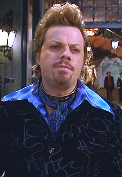 Tony of the Disco Boys (Mystery Men) with a blue flared collar