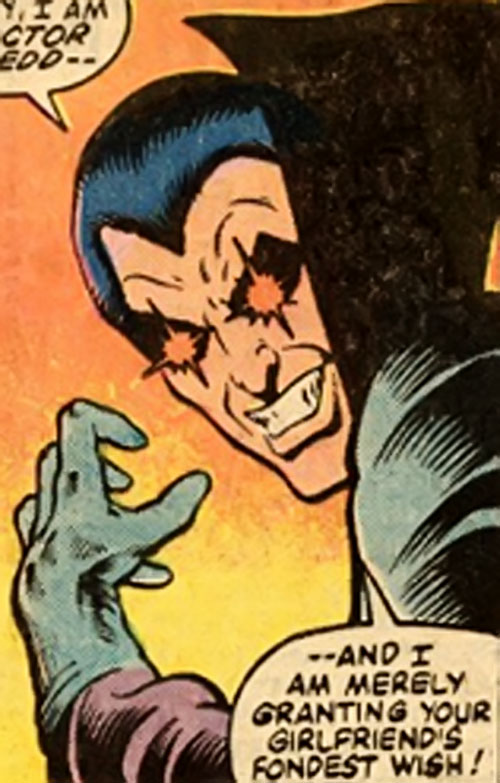 Doctor Dredd (Rom spaceknight enemy) (Marvel Comics) face closeup