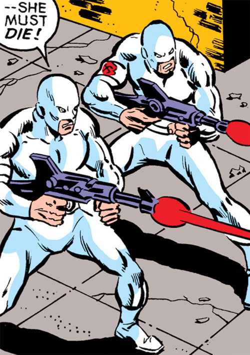 Gunmen from Doctor Faustus' National Force (Captain America)