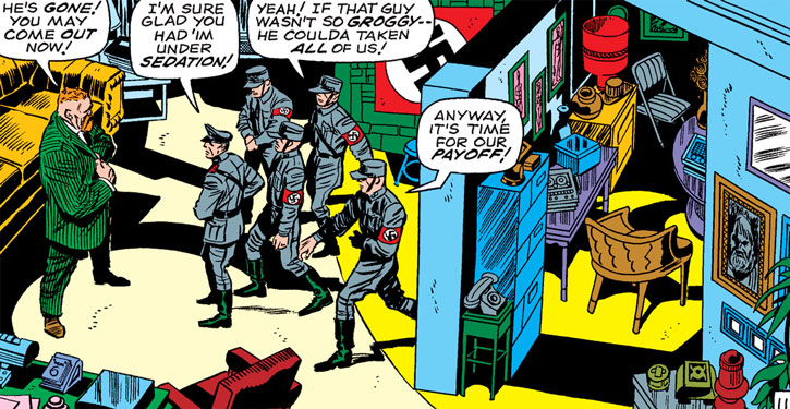 Doctor Faustus (Captain America enemy) (Marvel Comics) and fake nazis
