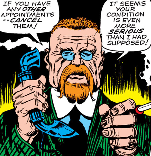 Doctor Faustus (Marvel Comics) early appearance, on the phone