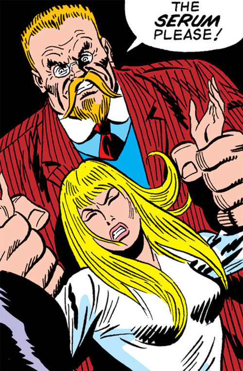 Doctor Faustus (Captain America enemy) (Marvel Comics) and Sharon Carter