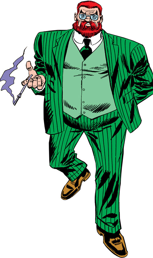 Doctor Faustus (Marvel Comics) in his green suit with a cigarette