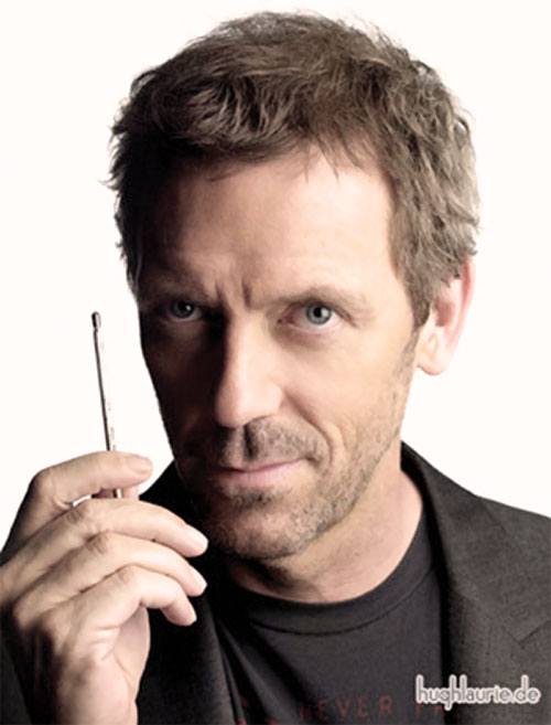 Doctor Gregory House (Hugh Laurie) with a small metal rod