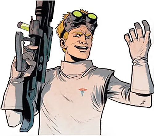 Doctor Horrible (Neil Patrick Harris) with a science rifle