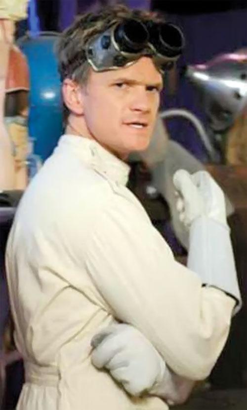 Doctor Horrible (Neil Patrick Harris) with huge white gloves