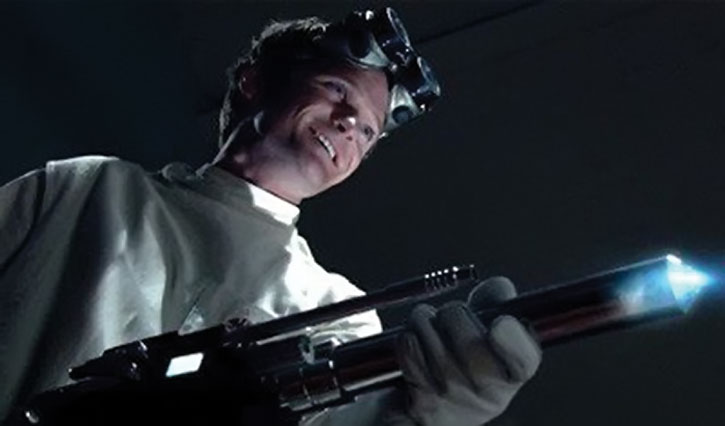 Doctor Horrible (Neil Patrick Harris) wields a super-weapon and smiles
