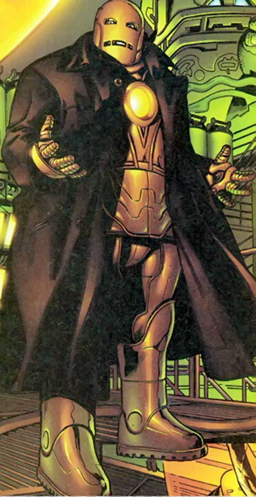 Doctor Midas (Marvel Boy enemy) (Marvel Comics) in Iron Man armor