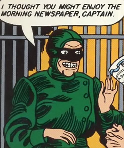 Princess Maru (Doctor Poison) (Wonder Woman enemy) (DC Comics) throwing a newspaper