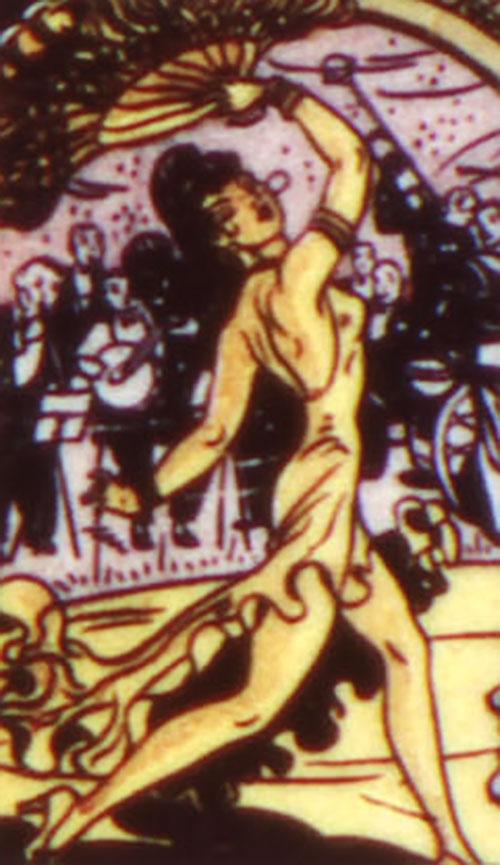 Princess Maru (Doctor Poison) (Wonder Woman enemy) (DC Comics) dancing