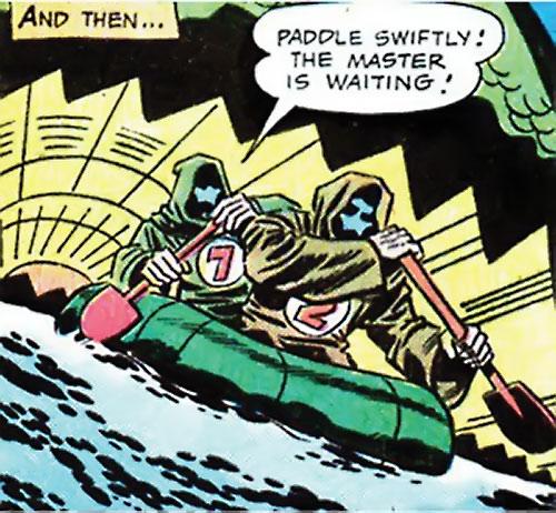 Doctor Spider (Sandman enemy) (DC Comics Kirby) henchmen paddling