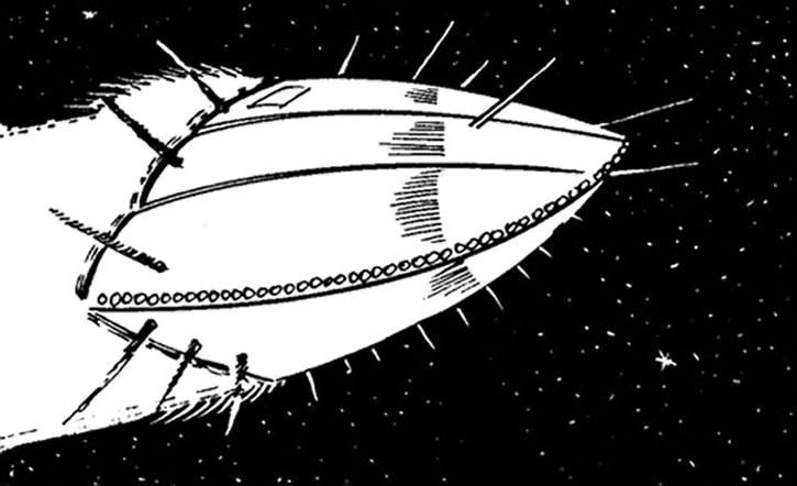 Doctor Tachyon's ship, Baby