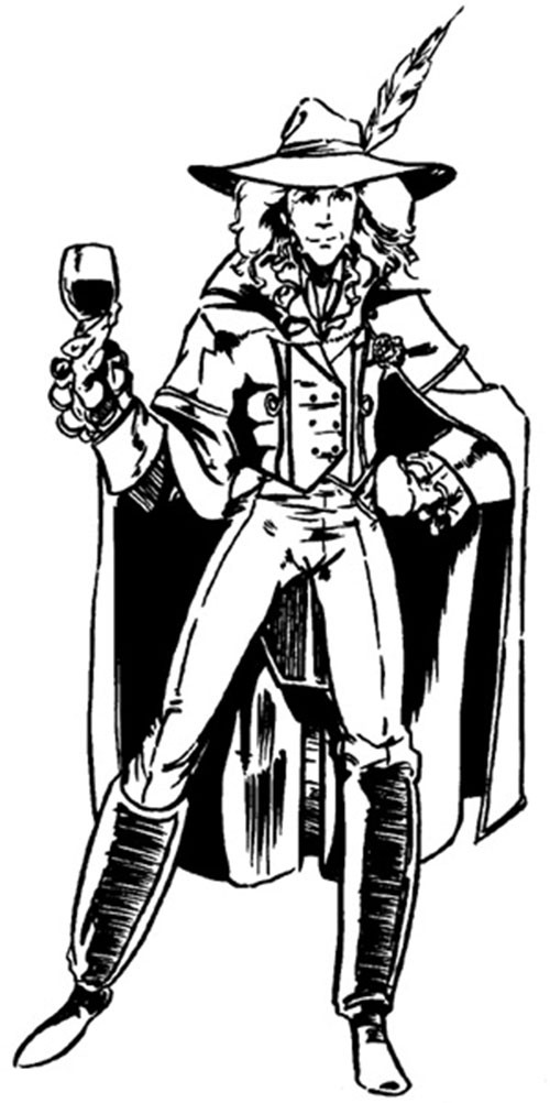 Doctor Tachyon (Wild Cards novels) with a glass of wine