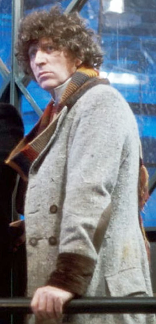Doctor Who (4th regeneration) (Tom Baker) with a gray coat