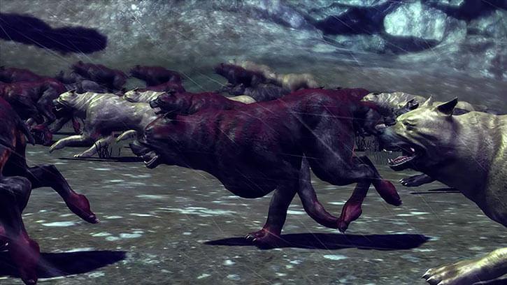 Mabari hounds charge