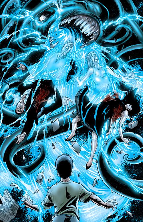 Doktor Sleepless (Ellis Avatar Comics) - Lovecraftian entity attacks parents