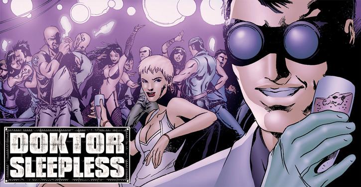 Doktor Sleepless (Ellis Avatar Comics) and nurse Igor in a club