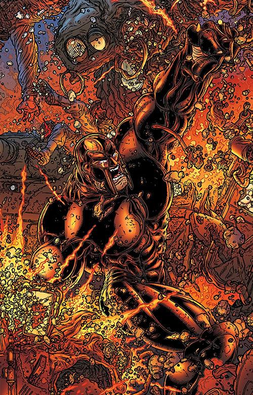 Dominic Atlas (Black Summer Avatar Comics) in battle