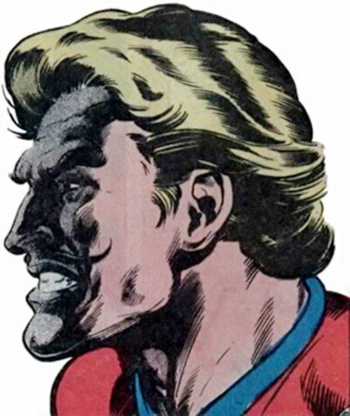 Donovan Flint of the Star Hunters (DC Comics) face closeup