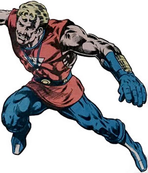 Donovan Flint of the Star Hunters (DC Comics) leaping