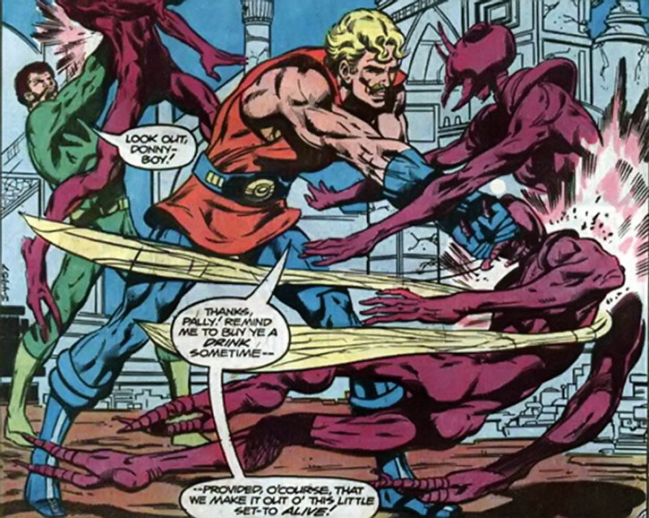 Donovan Flint fights aliens