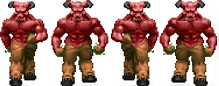 Doom hell baron walking sprite