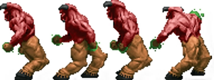 Baron of hell Doom sprite rear view