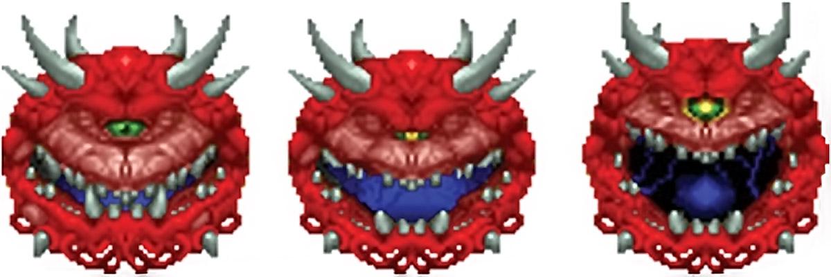 Doom cacodemon attacking sprite
