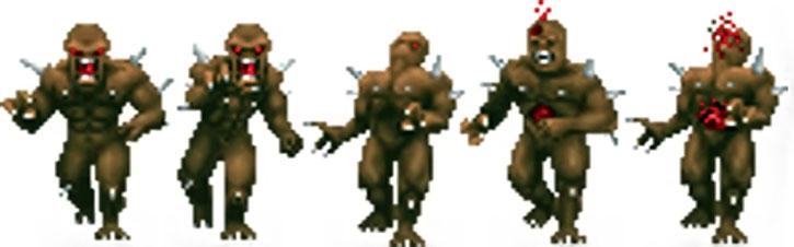 Doom imp sprite in combat