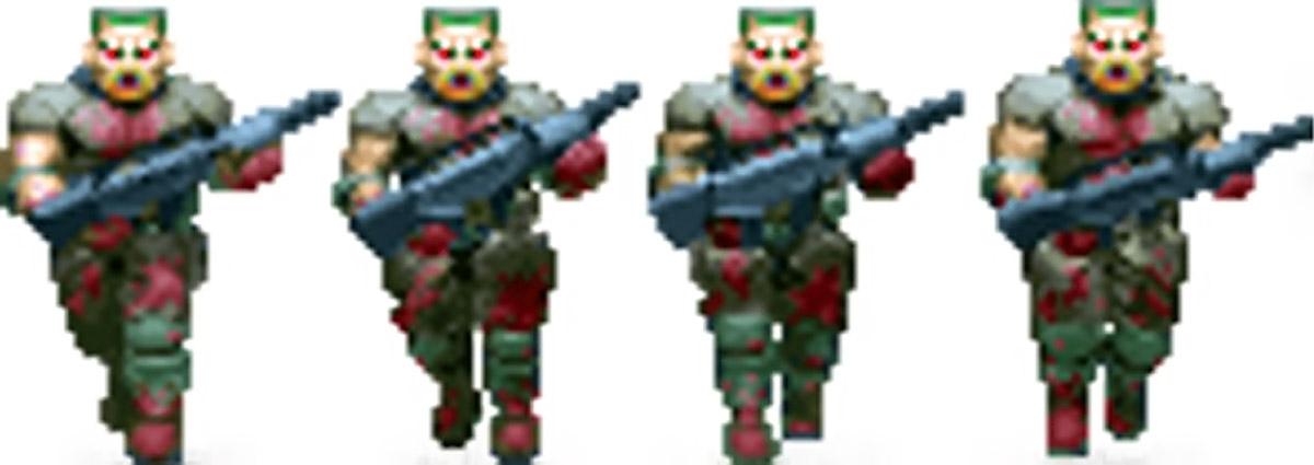 Doom video game zombie sprite