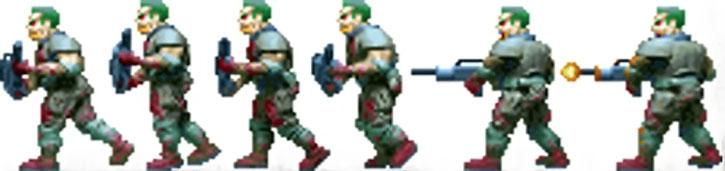 Doom video game zombie shooting