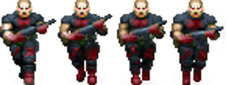 Doom shotgun zombie advancing sprite
