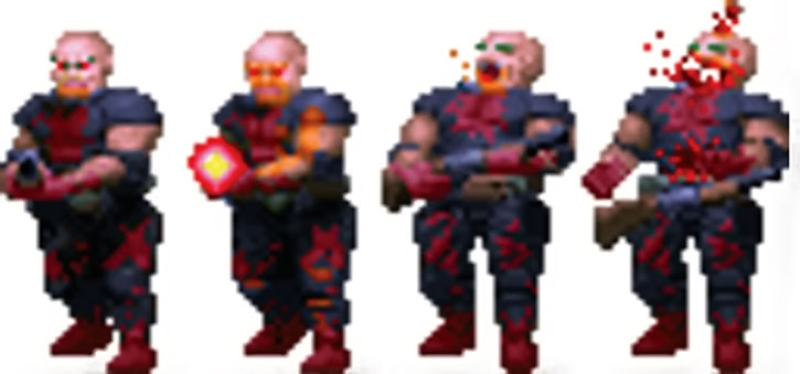 Doom shotgun zombie sprite hit