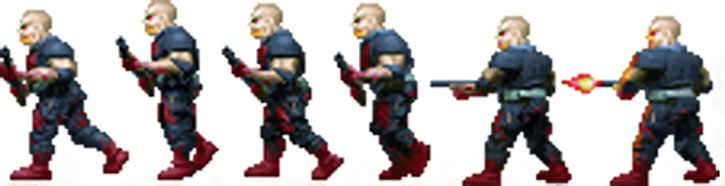 Doom shotgun zombie sprite side