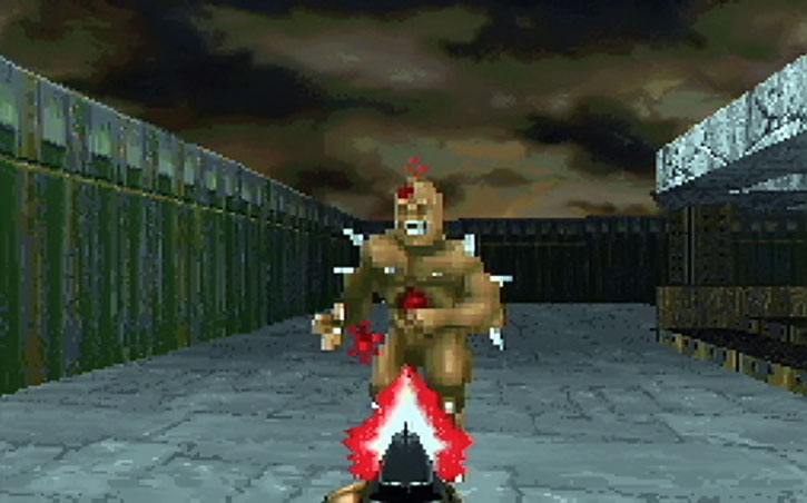 Imp killed with a shotgun in the Doom video game
