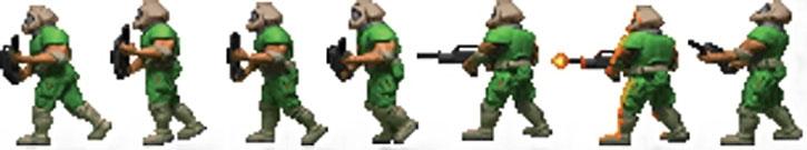 Doom marine sprite left-hand view