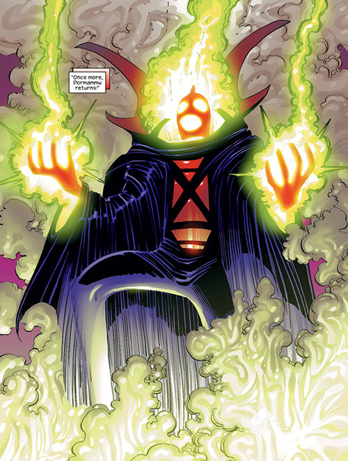 Dormammu (Doctor Strange) (Marvel Comics) burning with green fire
