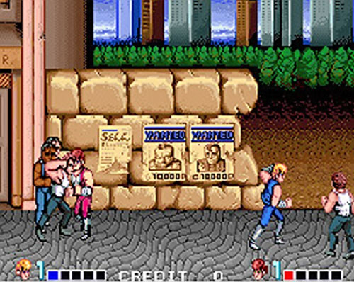 Double Dragon video game screen shot