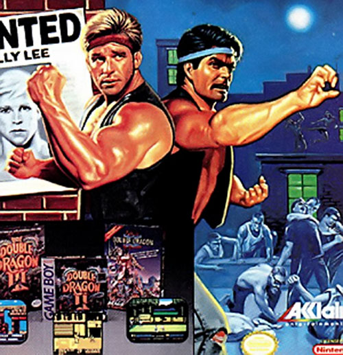 Double Dragon video game cover art