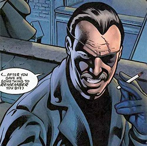 Dracul the Romanian hitman (Green Lantern enemy) (DC Comics) face closeup