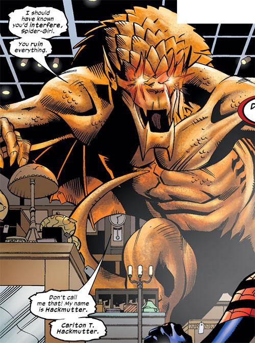 Dragon King (Spider-Girl enemy) (Marvel Comics MC2) eyes glowing