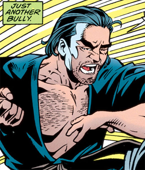 Dragoncat Parsons (DC Comics) (Robin villain) in a black gi