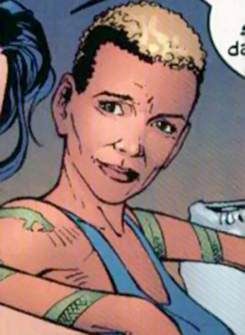 Drake (Elektra's sensei) (Marvel Comics) arm tattoos