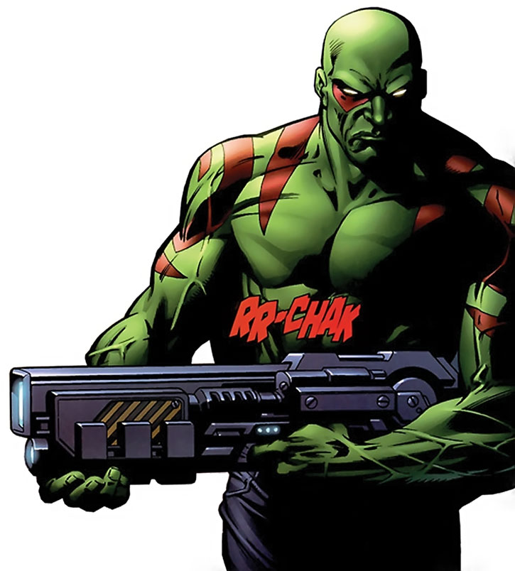 Drax with a blaster