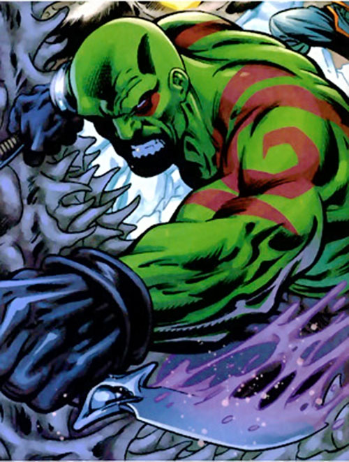 Drax the Destroyer of the Guardians of the Galaxy (Marvel Comics) slashing
