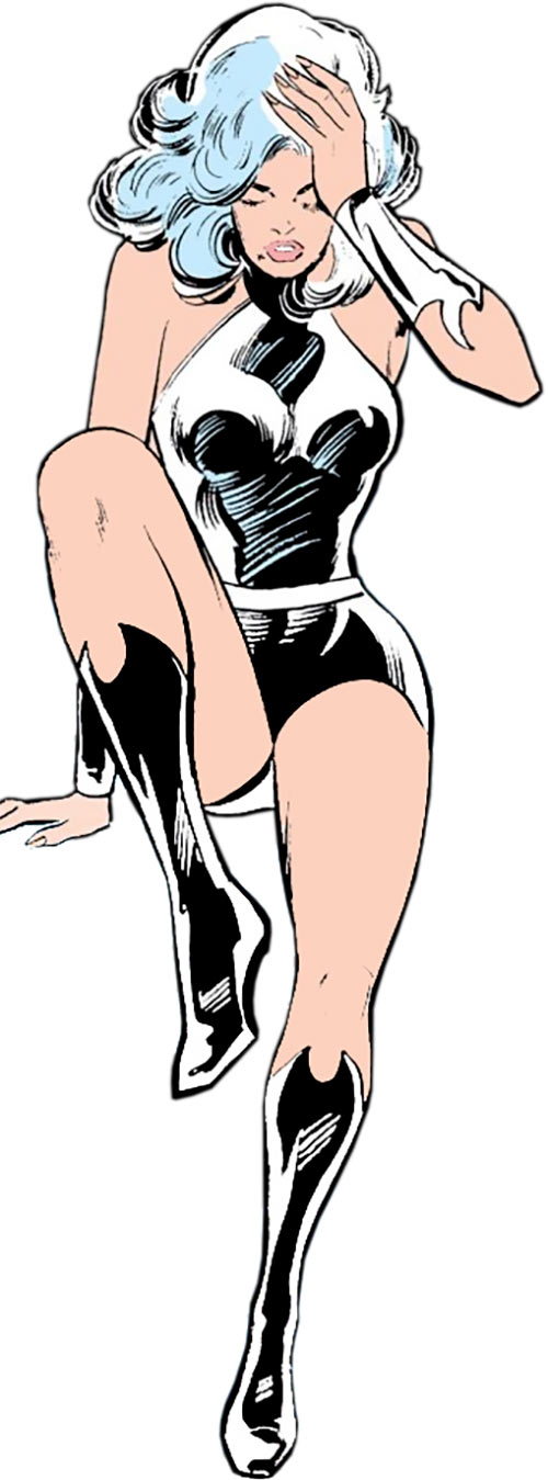 Dream Girl of the Legion of Super-Heroes (pre-reboot) (DC Comics) getting up
