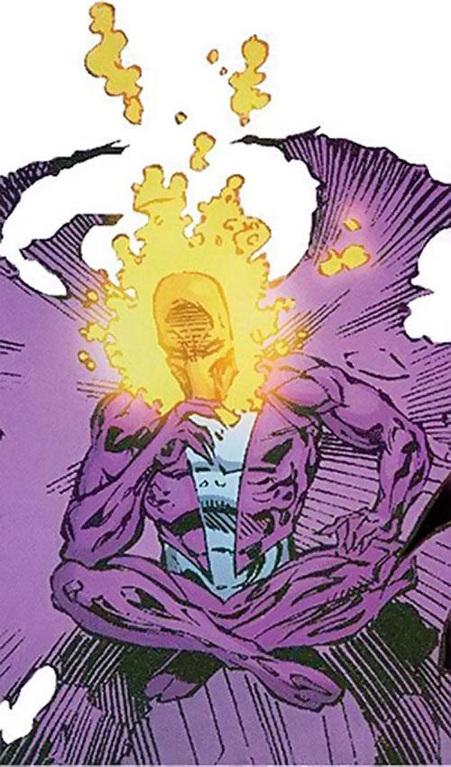 Dreamslayer of the Extremists (DC Comics) levitating cross-legged